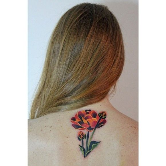 Sasha Unisex tattoo flowers2