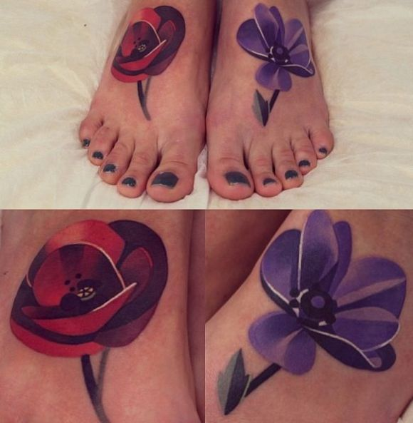 Sasha Unisex tattoo flowers4