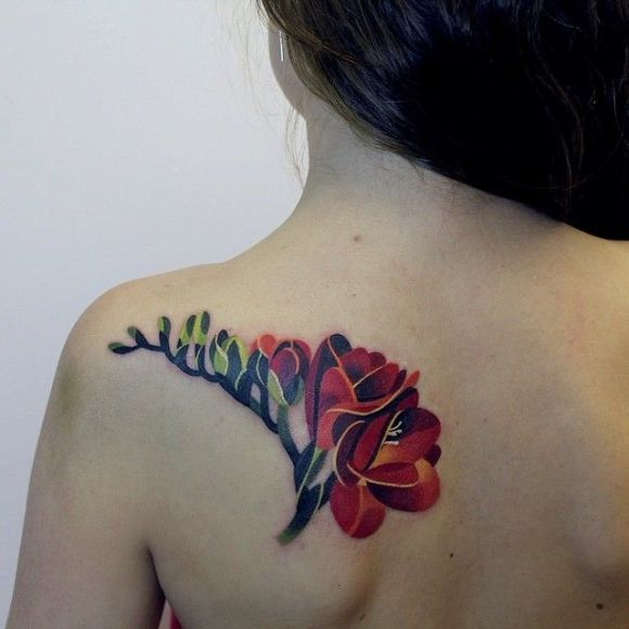 Sasha Unisex tattoo flowers6